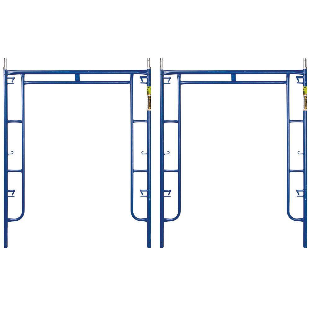 Saferstack 6.3 ft. x 5 ft. Mason Walk-Through Arch Scaffold Frame (2-Pack)