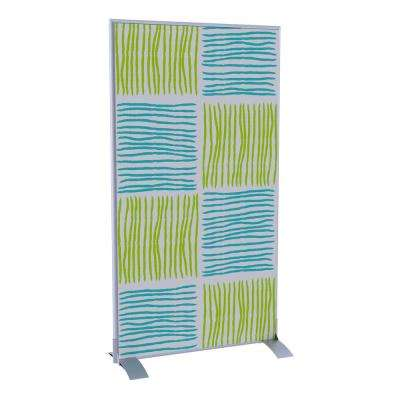Paperflow easyScreen Vertical Divider Screen, Blue and Green Squares/Lines