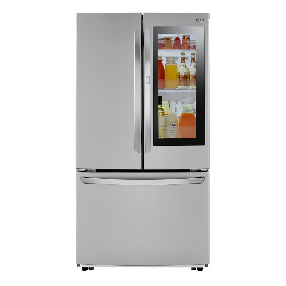 LG Electronics 23 cu. ft. French Door Refrigerator with InstaView Door-in-Door in PrintProof Stainless Steel, Counter Depth was $2499.0 now $1528.2 (39.0% off)