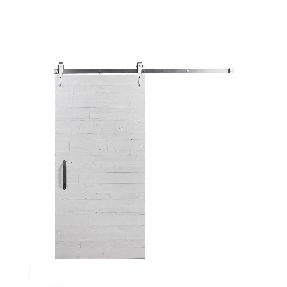 Rustica Hardware 42 In X 84 In Rustica Reclaimed White Wood Barn