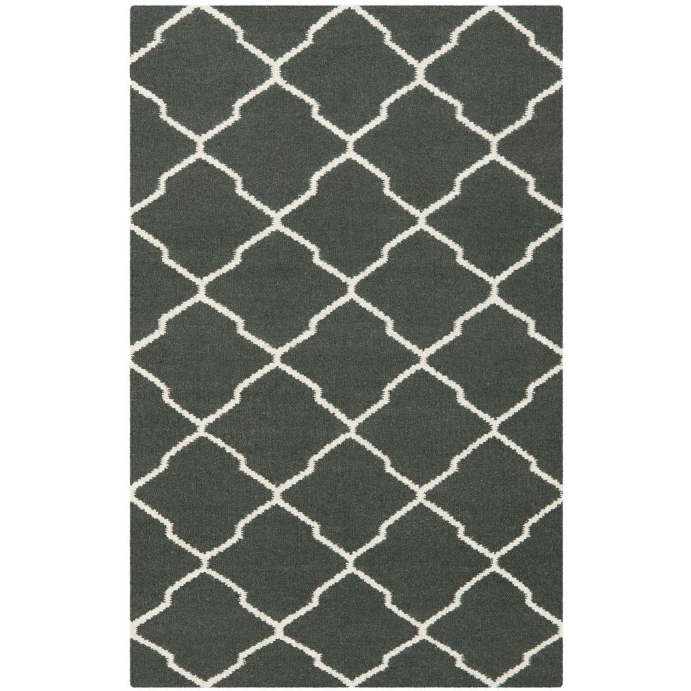Dhurries Chocolate/Ivory 4 ft. x 6 ft. Area Rug