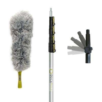 6 ft. - 24 ft. Extension Pole + Microfiber Feather Duster/High Reach Telescopic Dusting Kit for High Ceilings & Surfaces