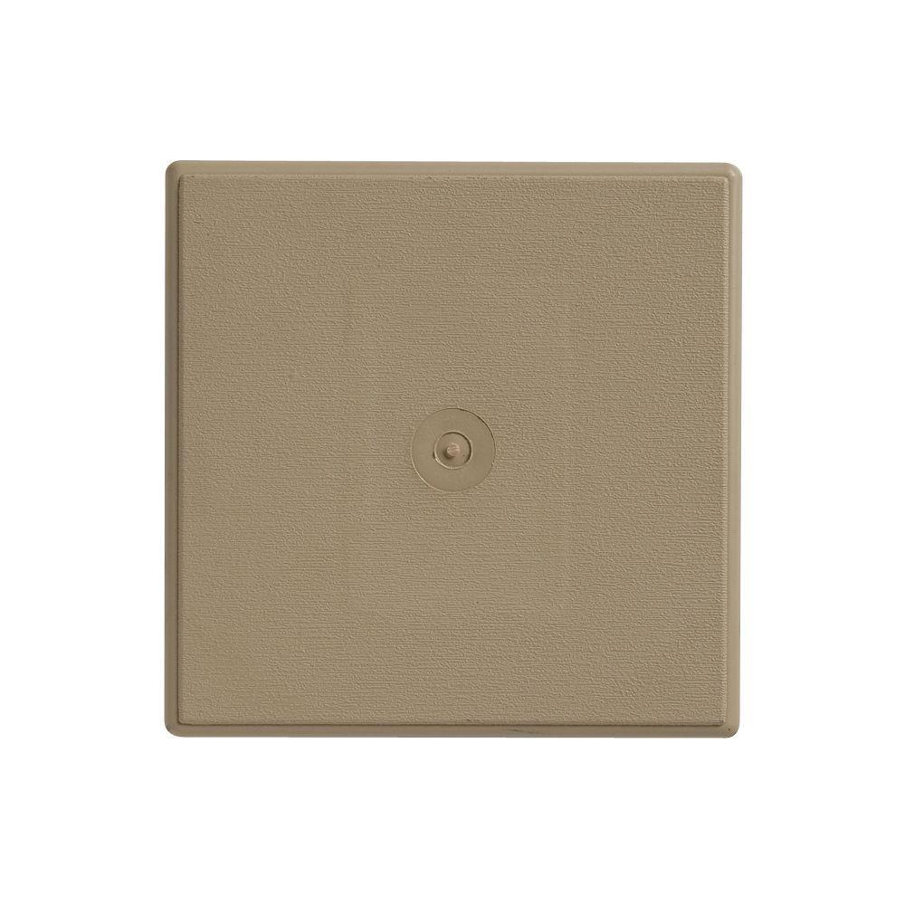 6.75 in. x 6.75 in. Khaki Dutch Lap Surface Mounting Block