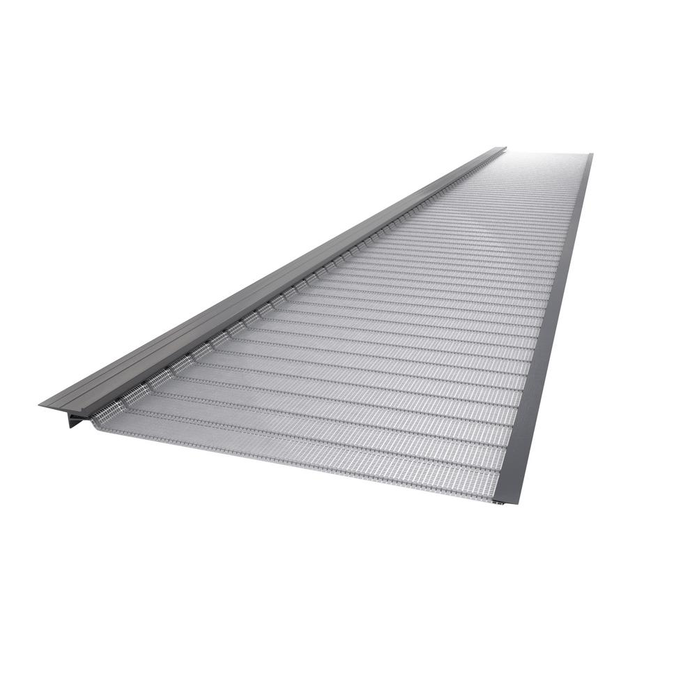 4 ft. Stainless Steel (Silver) 6 in. Micro-Mesh Gutter Gu...