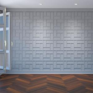 3/8 in. x 15-3/4 in. x 15-3/4 in. Medium Sheffield White Architectural Grade PVC Decorative Wall Panels