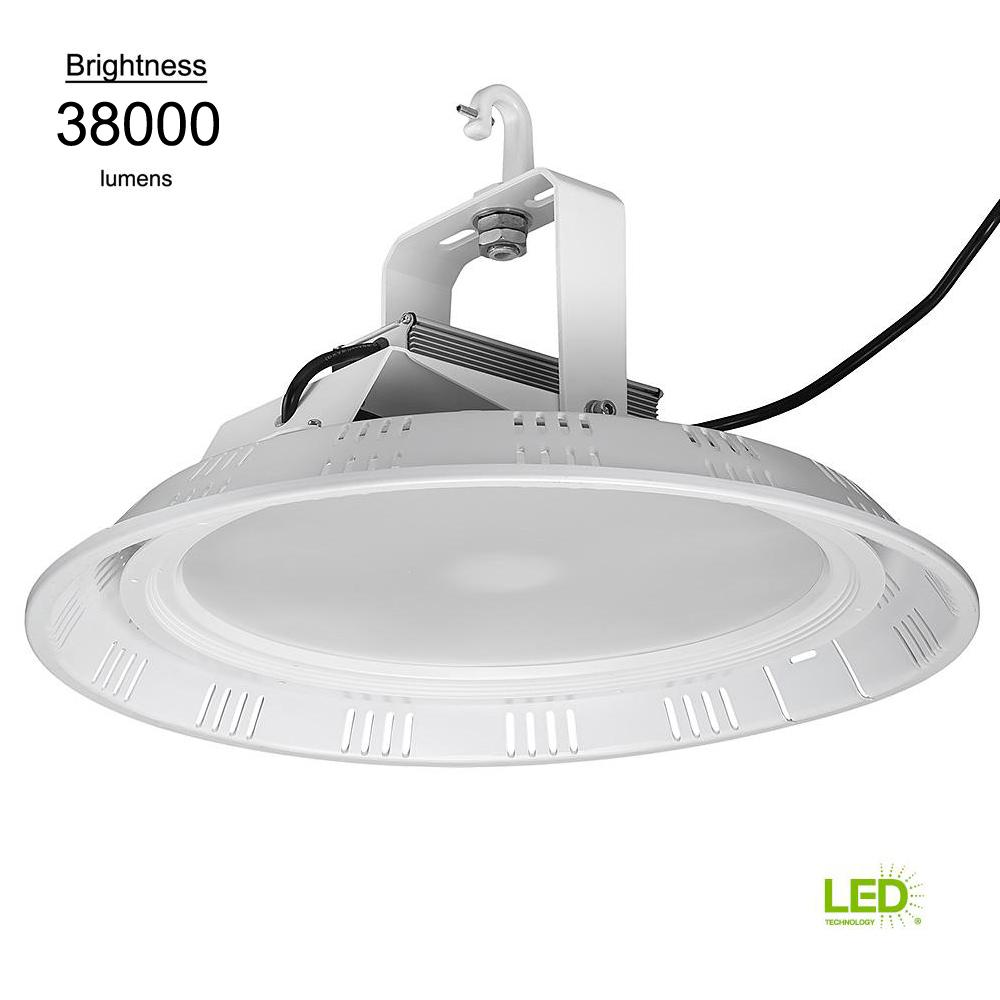 Commercial 18 in. Round White 1000w HID Equivalent 38000 Lumen Integrated