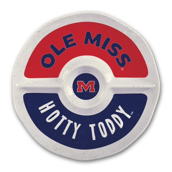 Magnolia Lane Ole Miss 15 in. Chip and Dip Server