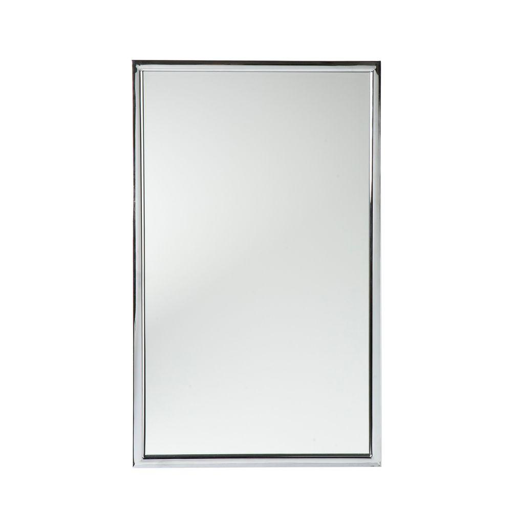 Home Decorators Collection Vogue 22 in. W x 36 in. H Chrome Metal Console Framed Wall Mirror