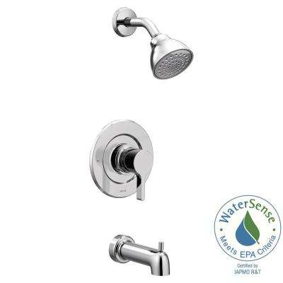 Vichy 1-Handle Eco-Performance Posi-Temp Tub and Shower Faucet Trim Kit in Chrome (Valve Not Included)