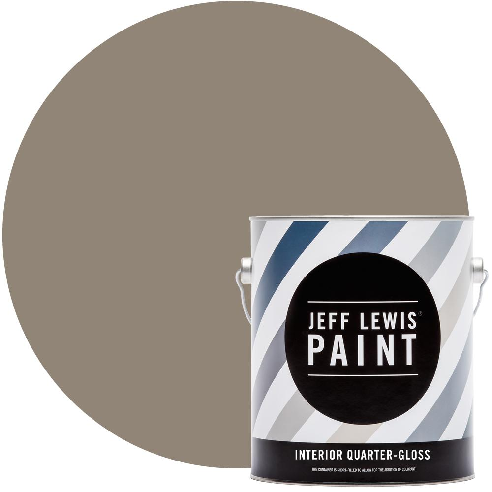 Jeff Lewis 1 gal. #110 Clay Quarter-Gloss Interior Paint