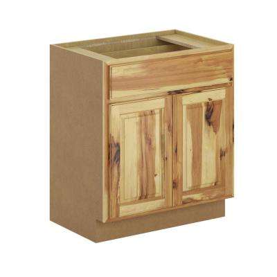 Madison Assembled 30x34.5x21 in. Base Bathroom Vanity Cabinet in Hickory