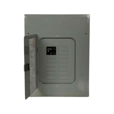 BR 100 Amp 12 Space 20 Circuit Indoor 22k Main Breaker Loadcenter with Combination Cover