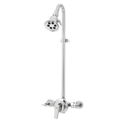 Retro Anystream 3-Spray Exposed Shower in Polished Chrome (Valve Included)