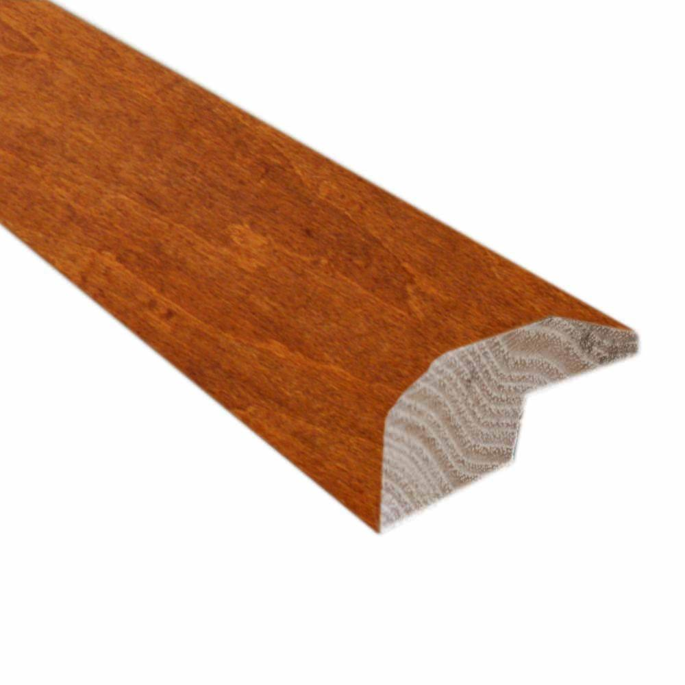 Millstead Handscraped Maple Spice/Nutmeg 22/25 in. Thick x 2-1/4 in. Wide x 78 in. Length Hardwood Carpet Reducer/Baby T-Molding