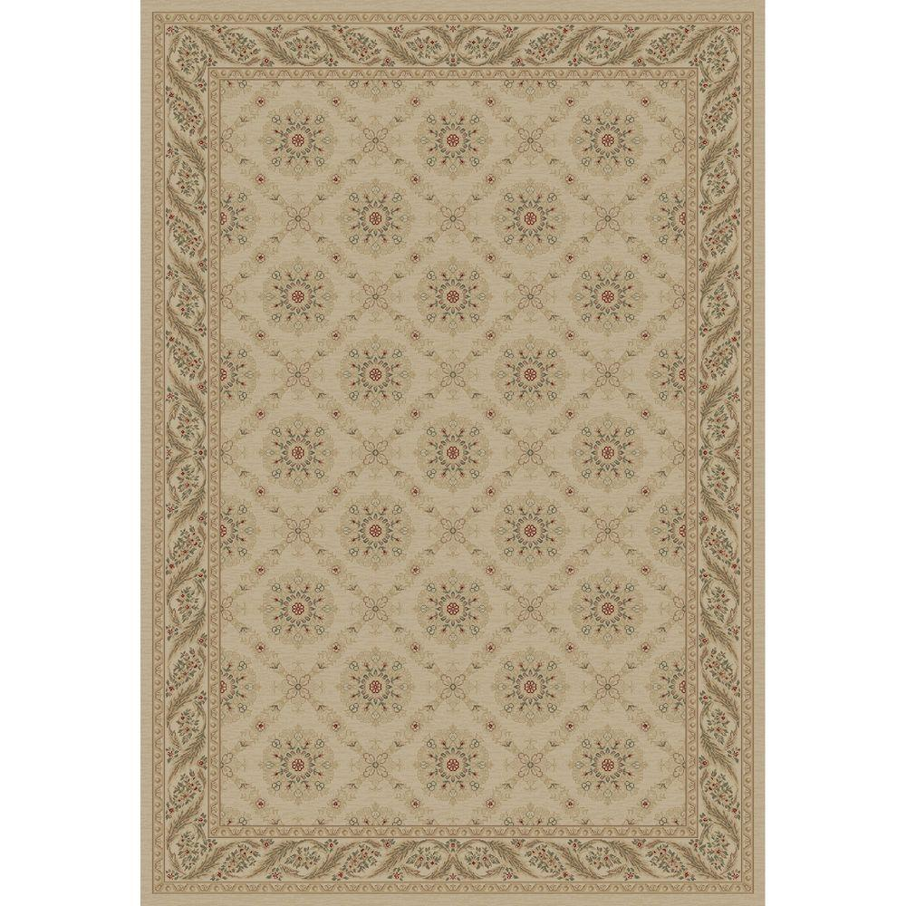 Imperial Aubosson Ivory 5 ft. 3 in. x 7 ft. 7