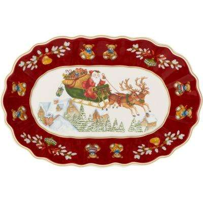 Toy's Fantasy 11.5 in. x 8 in. Large Oval Bowl Sleigh