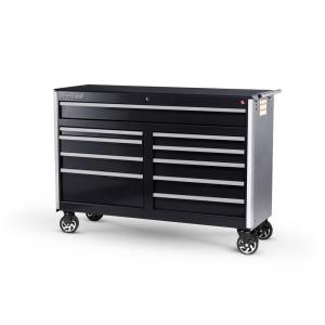 International Tech Series 54 inch 10-Drawer Roller Cabinet Tool Chest Black by International