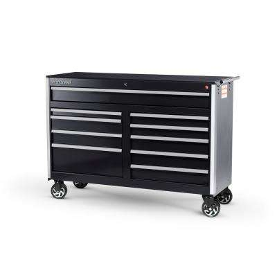 Tech Series 54 in. 10-Drawer Roller Cabinet Tool Chest Black