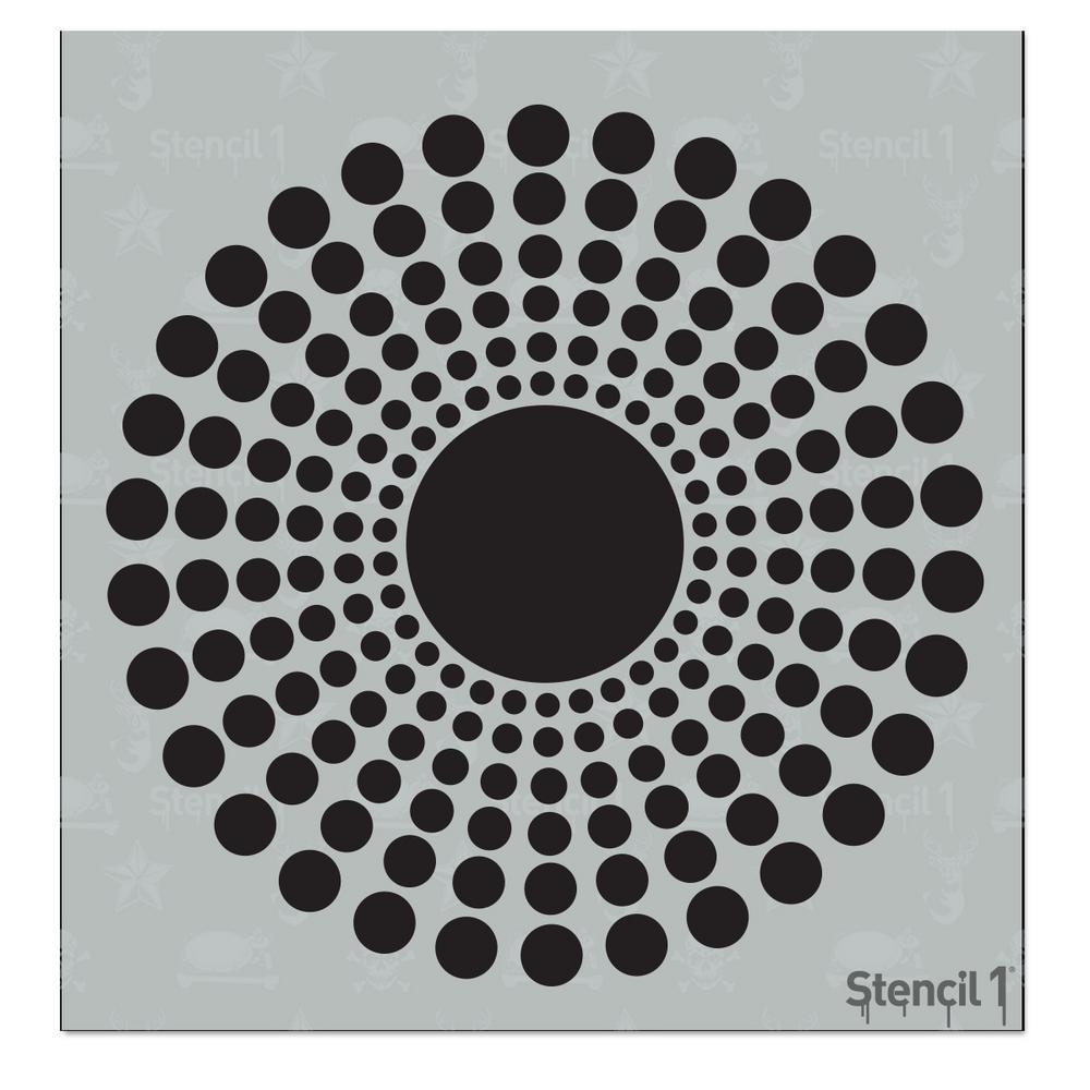 Radial 1 Small Stencil