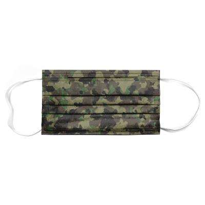 Planet Earth Disposable Adult Face Mask, Woodsmen Camo 50-Pack