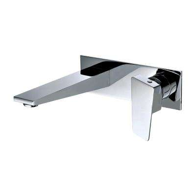Single-Handle Wall Mount Bathroom Faucet in Polished Chrome