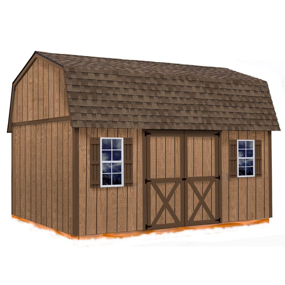 Best Barns Homestead 12 ft. x 16 ft. Wood Storage Shed Kit