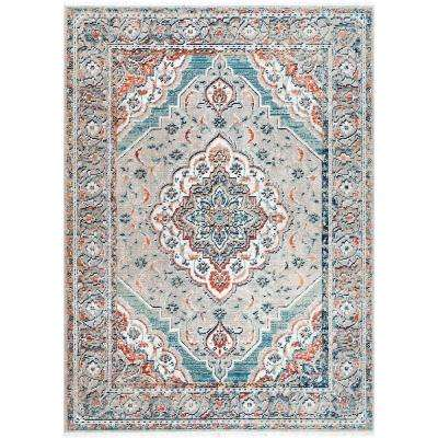 Amata Medallion Beige 5 ft. 3 in. x 7 ft. 7 in. Area Rug