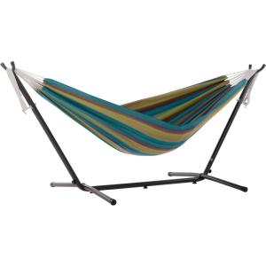 9 ft. Portable Sunbrella Hammock with Stand in Lagoon