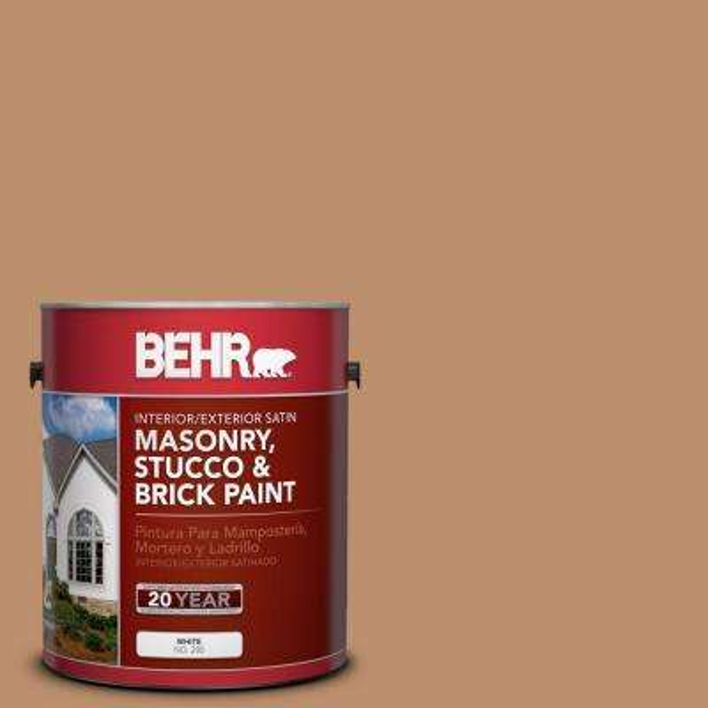 1-gal. #MS-10 Desert Shade Satin Interior/Exterior Masonry, Stucco and Brick Paint