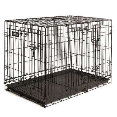 36 in. D x 25 in. H x 22 in. W Large Wire Dog Crate