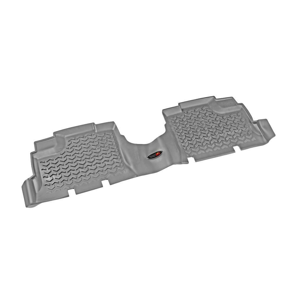 null Floor Liner Rear Pair Gray 2007-2013 Jeep Wrangler Unlimited JK