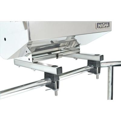 Dual Extended Horizontal Round Rail (HD) Mount for ChefsMate, Newport, Catalina, FirstMate, Dual Tables