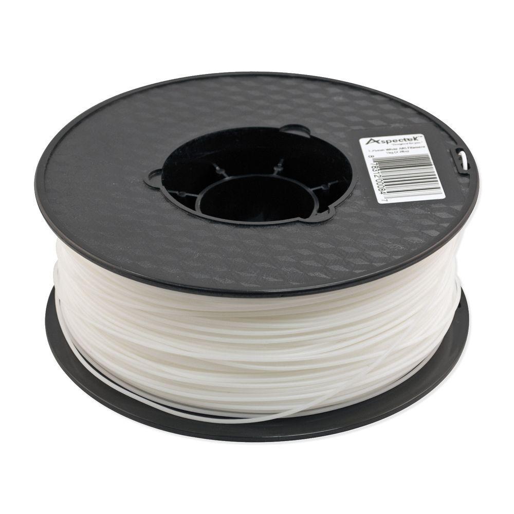 Aspectek 3D Printer Premium White PLA Filament