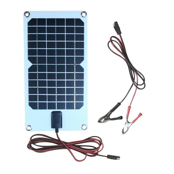 Nature Power 8 Watt Semi Flex Monocrystalline Solar Panel For 12 Volt Charging 56808 The Home Depot