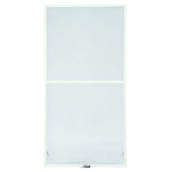 31-7/8 in. x 62-27/32 in., White Aluminum Insect Screen, For 400 Series & 200 Series Narroline Double-Hung Windows