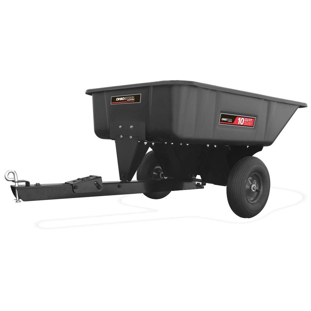 10 cu ft. 600 lb. Capacity Poly Swivel Cart