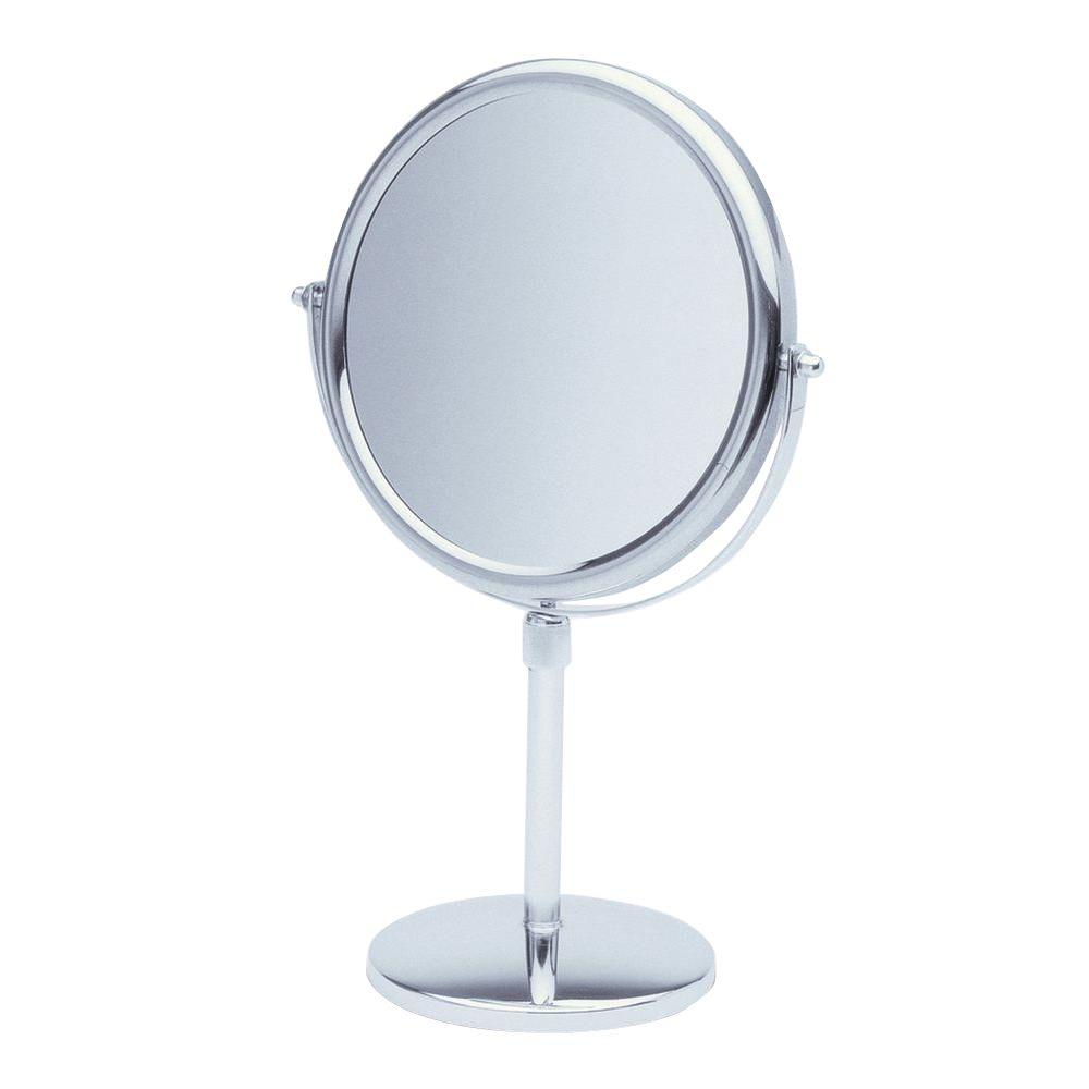 See all 9 in x 16 in round table pedestal makeup mirror for Beauty mirror