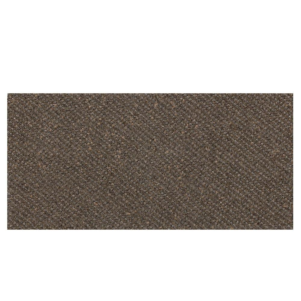 Daltile Identity Oxford Brown Fabric 6 in. x 12 in. Porcelain Bullnose Cove Base Floor and Wall Tile-DISCONTINUED