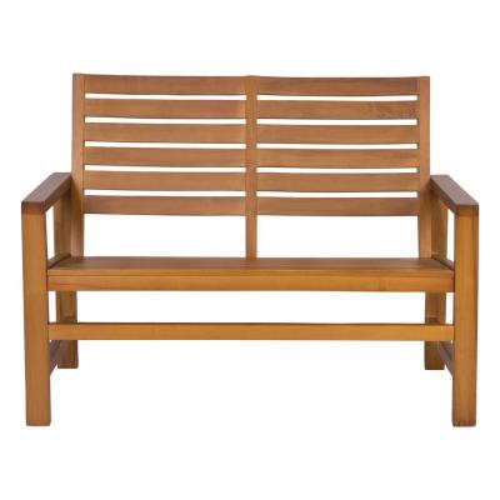 Contemporary Wood Outdoor Garden Bench 40 in. - Oak