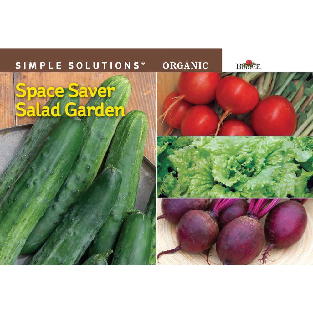 Simple Solutions Organic Space Saver Salad Garden Seed