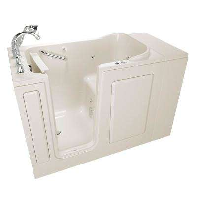 Exclusive Series 48 in. x 28 in. Left Hand Walk-In Whirlpool and Air Bath Tub with Quick Drain in Linen