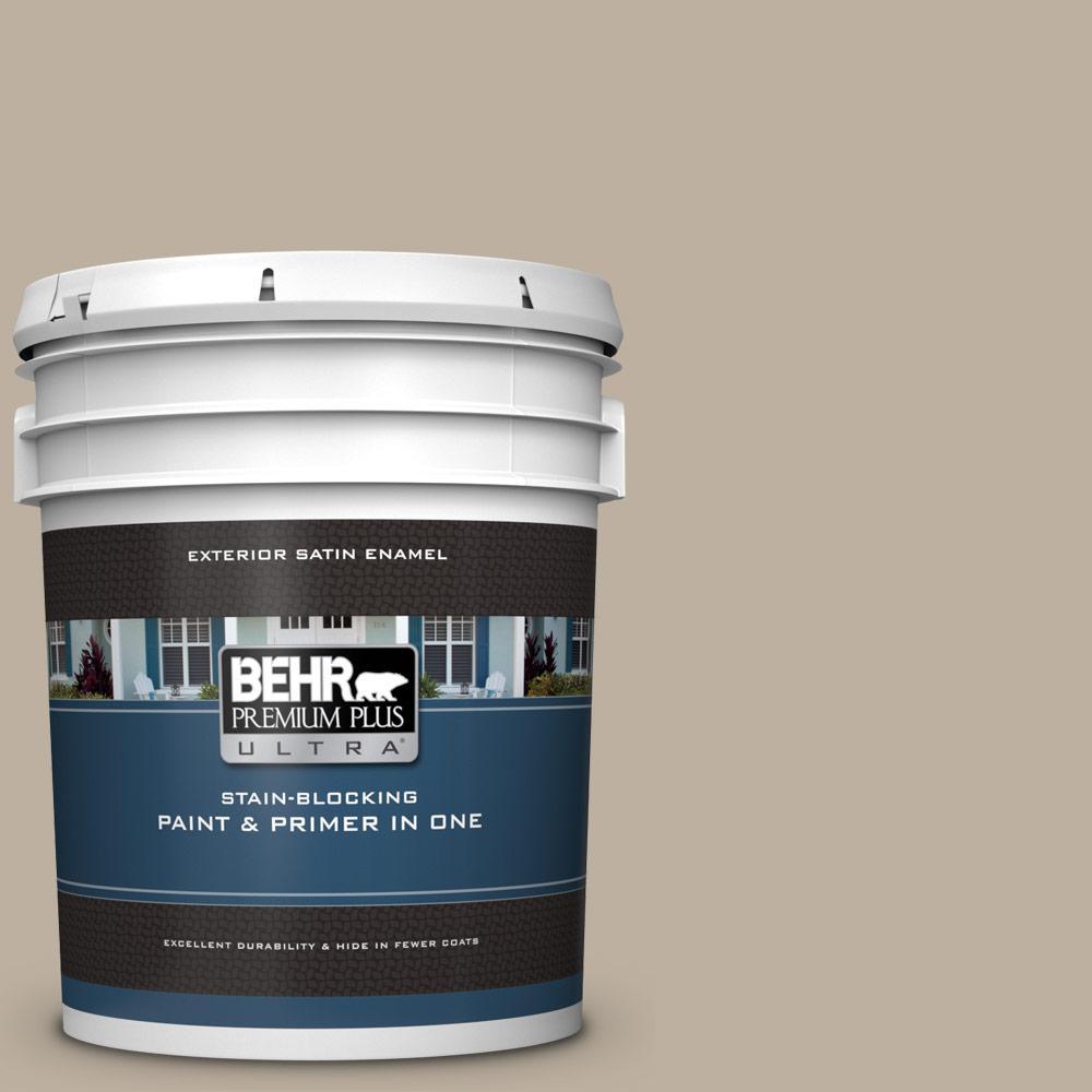 Behr Premium Plus Ultra 5 Gal 750d 4 Pebble Stone Satin Enamel Exterior