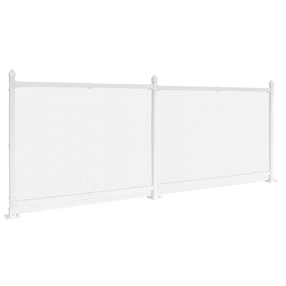 SnapFence 3 ft. x 8 ft. White Vinyl Fence Starter Kit with Wire-SK ...