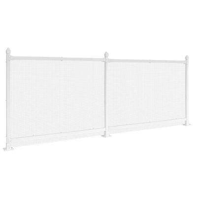 3 ft. x 8 ft. White Vinyl Fence Starter Kit with Wire