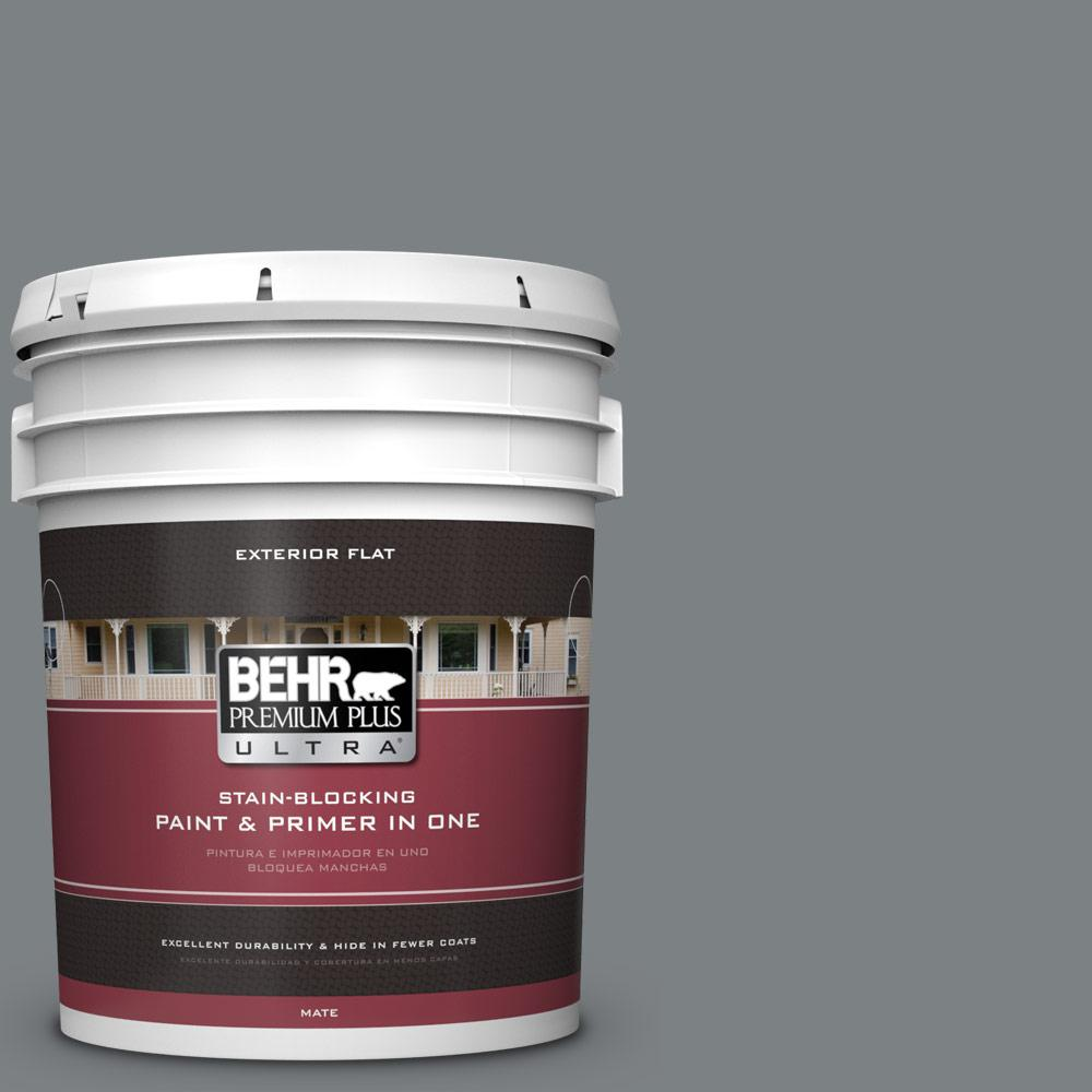 BEHR Premium Plus Ultra 5 gal. #PPU26-03 Legendary Gray F...