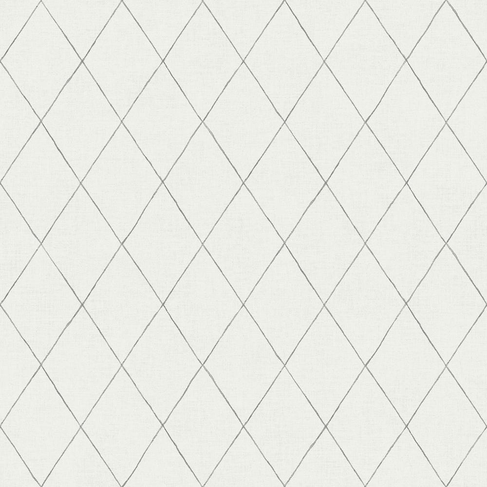 Rhombus Grey Geometric Wallpaper