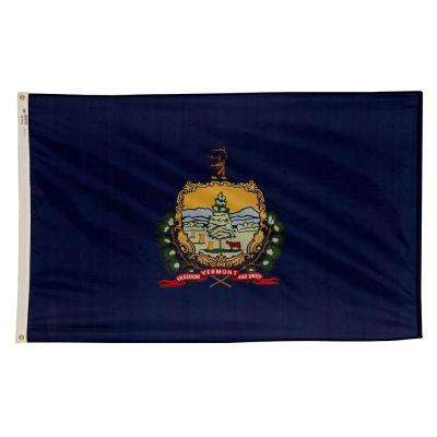 3 ft. x 5 ft. Nylon Vermont State Flag