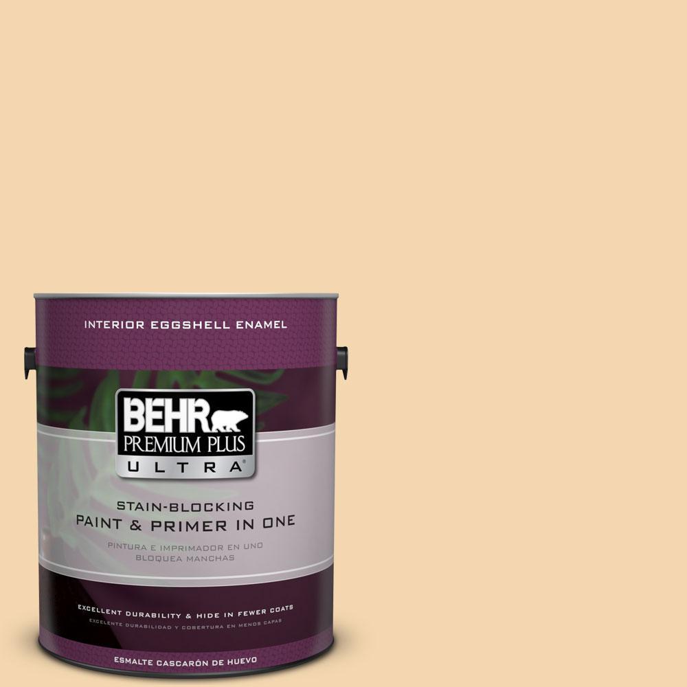 BEHR Premium Plus Ultra 1-gal. #M270-3 Cream Custard Eggshell Enamel Interior Paint