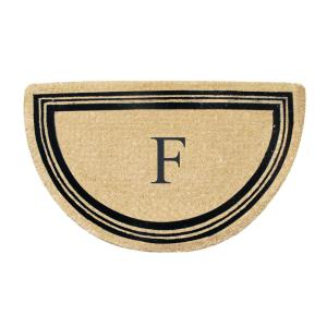 Click here to buy  A1HC First Impression Engineered Finlay Half Round 30 inch x 48 inch Coir Monogrammed F....