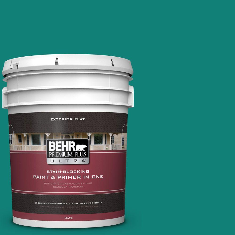 BEHR Premium Plus Ultra Home Decorators Collection 5-gal. #hdc-WR14-9 Green Garlands Flat Exterior Paint
